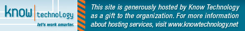 This site is generously hosted by Know Technology as a gift to the organization. For more information about hosting services, visit www.knowtechnology.net